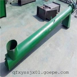 圆管式螺旋饲料输送机 垂直螺旋上料机 大倾角螺旋提升机