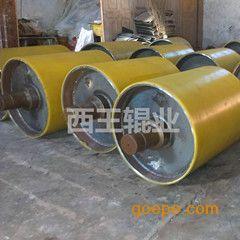 桐城矿山输送行业直径600,800热硫化滚筒包胶改向专用