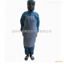 防静电工作围裙 食品厂卫生安全围裙