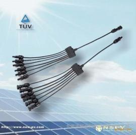 6汇1防水衔接器/MC4奔流起始/PV线束