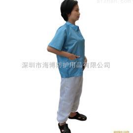 现货供应 短袖洁净服 短袖分体服洁净防静电