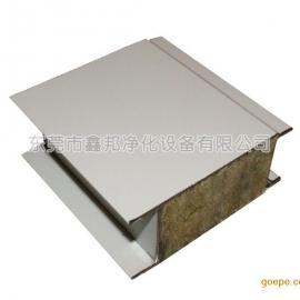东莞彩钢板厂家直销岩棉夹芯板/烘道板