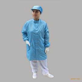 防静电立领大褂 车间工作服套装 无尘防护衣男女