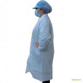 加厚无纺布大褂 实验室洁净工作服