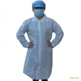 加厚一次性大褂 防尘防菌隔离无纺布工作服