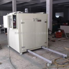 三角工字钢轨道式电烘箱 承重型台车烘箱 导轨式台车固化炉