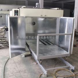 双开门轨道式台车烤箱 节能型台车烘箱 大型台车式固化炉