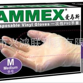 爱马斯一次性PVC手套 实验室专用手套 薄膜手套
