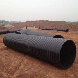 HDPE双平壁钢塑复合管,钢塑复合缠绕管