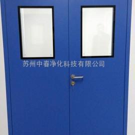 万级实验室净化钢质门 无菌室钢质平开门 洁净钢制防火门