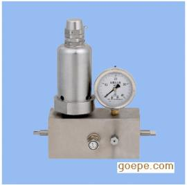 蓄能器阀组系列QF-CR-31.5气体安全阀图片规格原理图