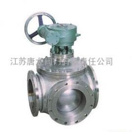 Q345PPL-10P/R/RL蜗轮不锈钢T型三通球阀