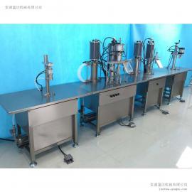 半自动泡沫填缝剂生产线 气雾剂灌装设备 气雾罐灌装机械