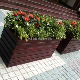 市政304不锈钢花坛 街边景观花池 木制移动树箱