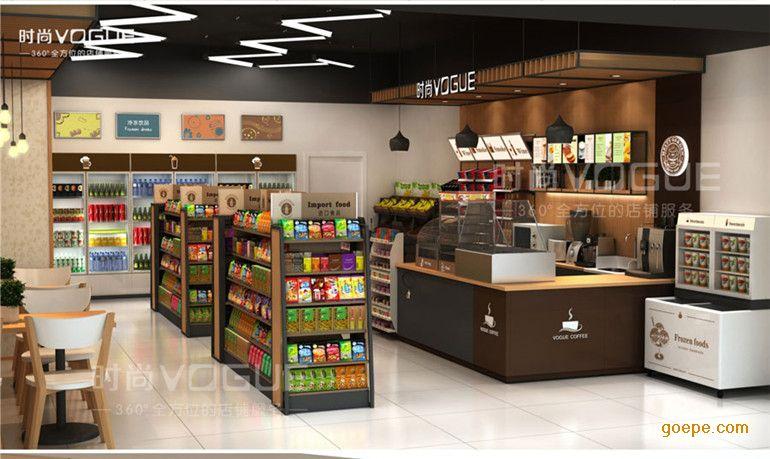 【时尚】百货收银台便利店组合收银柜台小型超市不锈钢收银吧台
