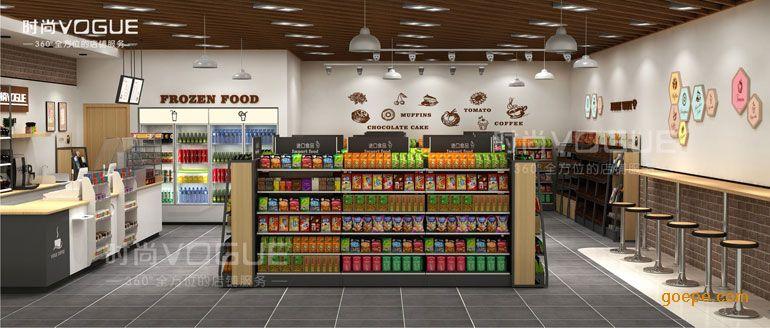 【时尚】便利店木质货架小超市单面货架711便利店木质