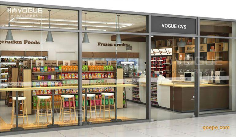 便利店超市 休闲货架 > 【时尚货架】经典欧式美食吧定制高档柜台实木