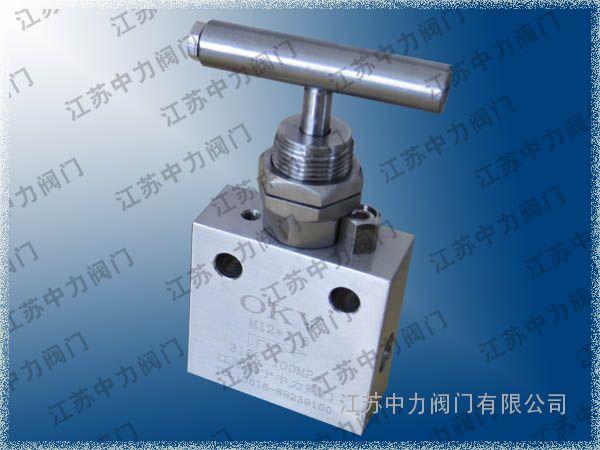 不锈钢板式超高压针阀
