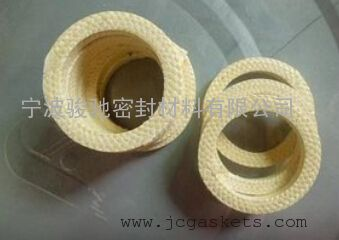芳纶纤维盘根|骏驰出品耐磨进口黄色杜邦芳纶纤维盘根