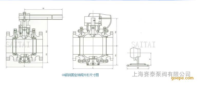 上海赛泰泵阀 供应gb锻钢固定球阀 锻钢固定式球阀图片