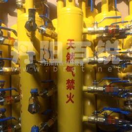 氧气、空气、天然气、混合气体集气包分气包现场安装示意图