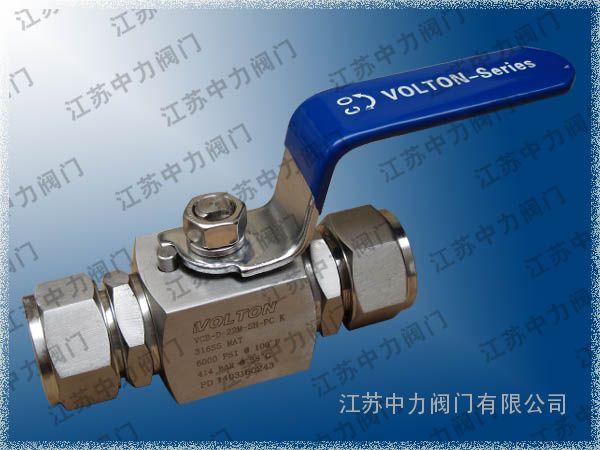 Q61F高压卡套球阀_VCB不锈钢高压球阀