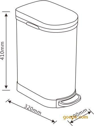 纹垃圾箱垃圾桶