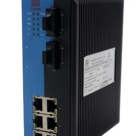 讯记8口6电2光工业以太网交换机
