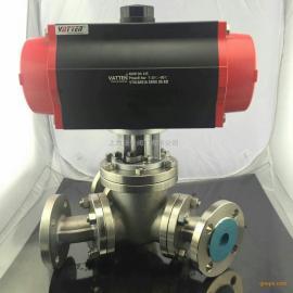 气动三通分流阀 气动不锈钢法兰三通分流阀进口粉体分流阀