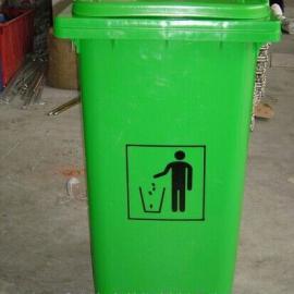 重庆240升环卫垃圾桶/塑料带轮垃圾桶生产厂家