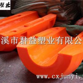 绍兴清淤塑料浮筒 排泥塑料管道浮体 挖沙船管道浮体君益专业供应