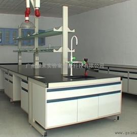 C型钢木中央实验台 实验室家具生产厂家
