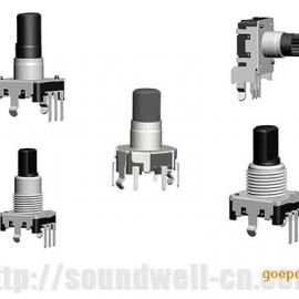 EC16编码器|带按压开关编码器|家用电器编码器|功放音响编码器