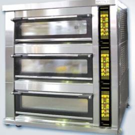 新麦电烤炉SM-603AG 三层15盘电烤箱 商用三层烘炉