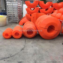 抽沙船塑料浮筒尺寸,内径大小/管道浮体定做厂家/塑料浮球