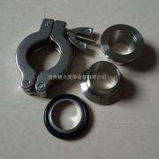 304不锈钢kf卡箍套装 卫生级真空卡箍接头组合件厂家直销