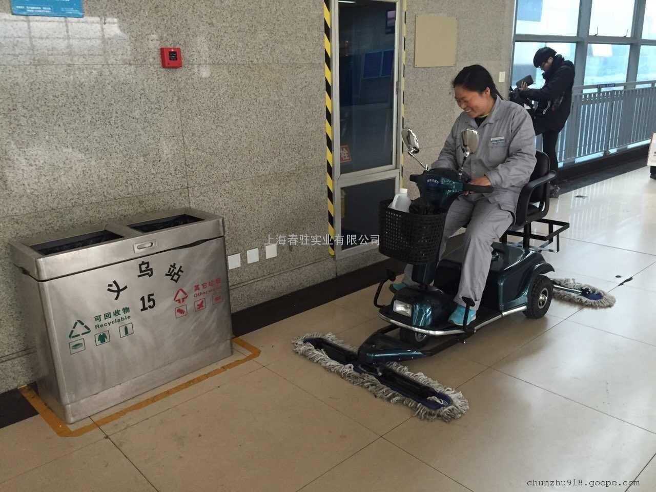 候车大厅保洁用尘推车高铁站地铁站飞机场大理石地面