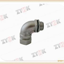 304材质端式箱接头,防水密封金属软管接头,90度箱接头