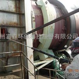 山东临沂水泥厂去结皮专用高压水枪