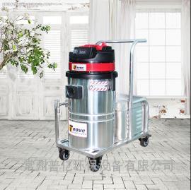 小型手推式电瓶工业吸尘器 吸尘吸水两用工业吸尘器