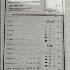 苏州美方自产自销索尼点规 A4点规 苹果点线规 缺陷对比卡