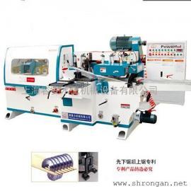 床板用四面刨双横锯、木工自动四面刨水平锯、上海四面刨现货