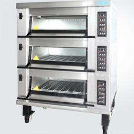 新麦MB-823三层六盘烤箱 燃气烤箱