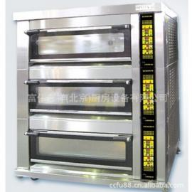 新麦SM-803SG三层九盘燃气烤箱 新麦燃气烤箱