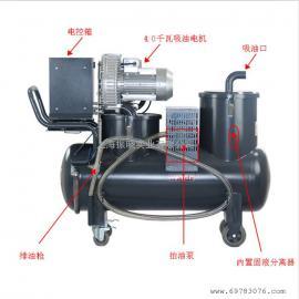 机械厂用什么吸油机WX160-4机械专用三相电吸油机