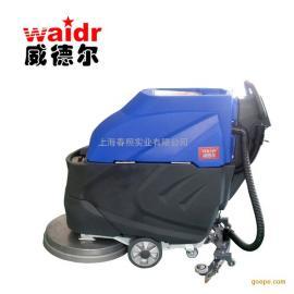 大型超市商场地面清洗机擦地机威德尔无线式电动手推式洗地机