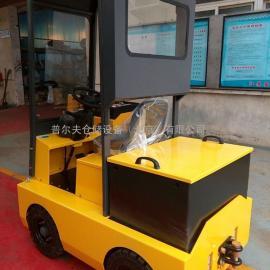 供应 带雨棚电动牵引车 带驾驶舱蓄电池牵引车头 2吨牵引车