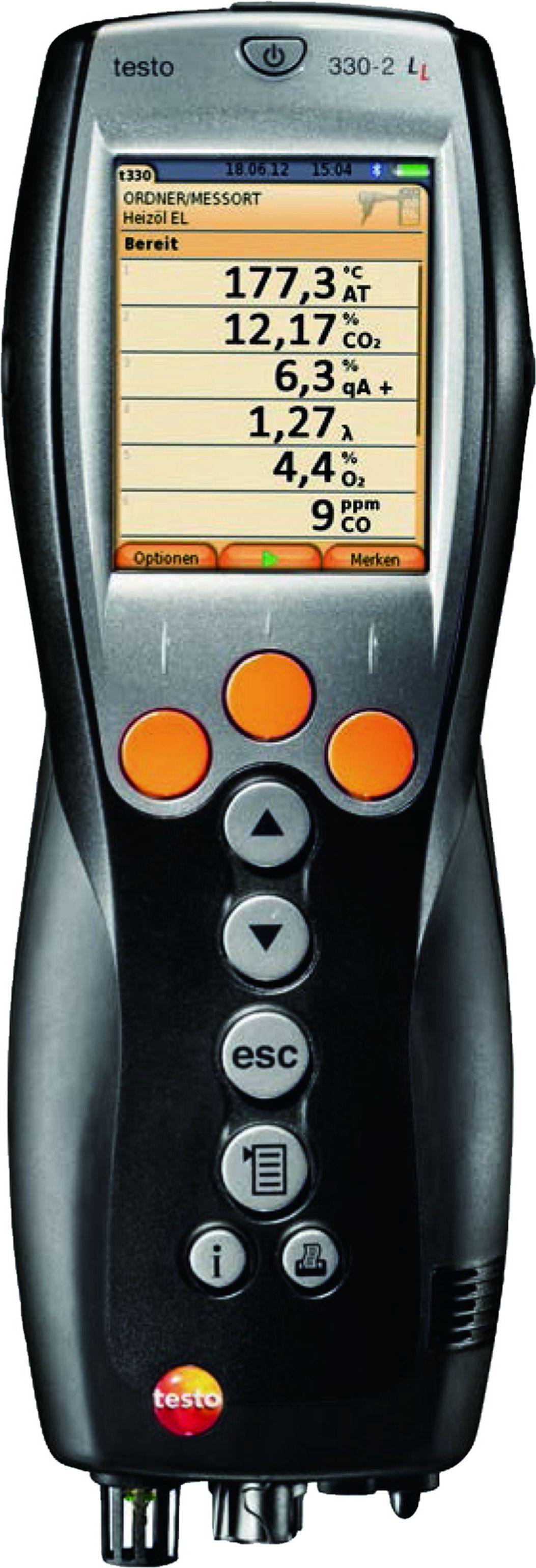 testo 330LL便携式烟气分析仪