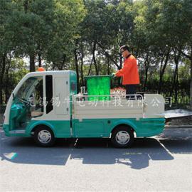 热销无锡2座电动环卫车,6桶校垃圾驳运电瓶车,四轮商场保洁车