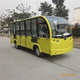 厂家直销14座封闭式电动观光车,四轮看房电瓶车,城市旅游代步车